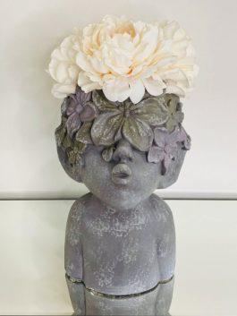PEONY FLOWER CROWN CUTE PLANTER