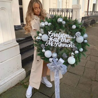 Majestic forever Green wreaths with personalisation
