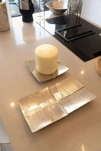 SILVER CANDLE TRAY